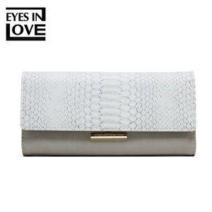 Handbags - lady purse with crocodile color gray